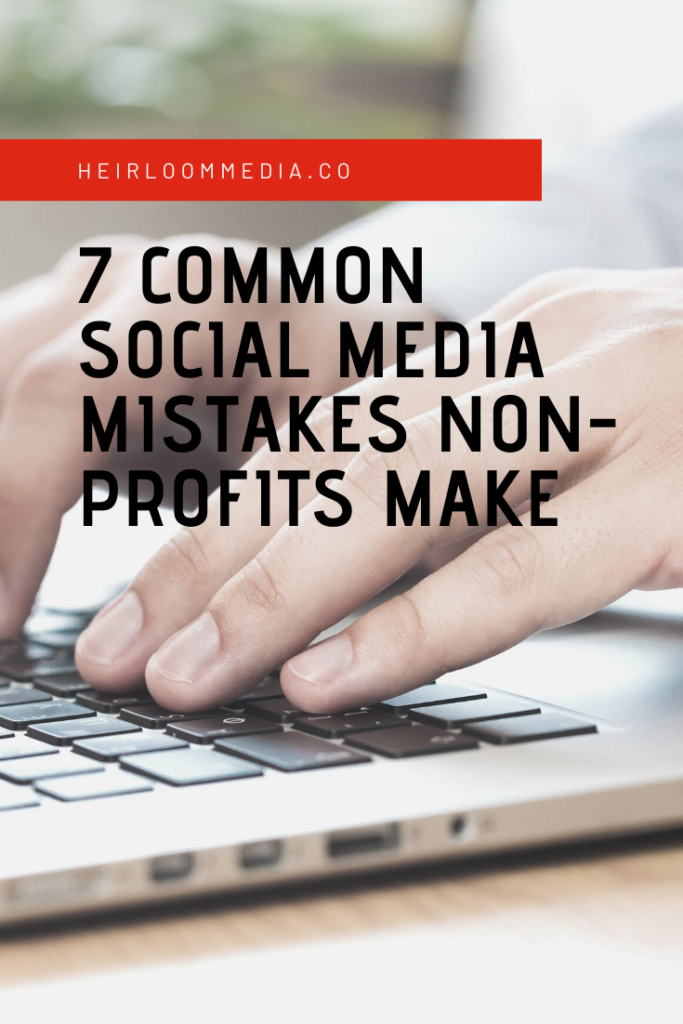 Before you hire out a social media agency, or before you set one of your existing volunteers or staff members to the task, make sure you're not making these common non-profit social media mistakes.